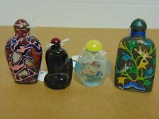 Antique Chinese Snuff Bottles Lot of 4  Early 20th Cent.