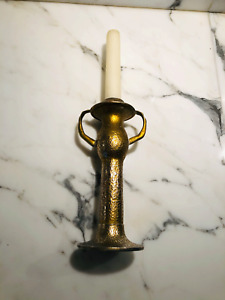 OLYMPIC AIRWAYS Onassis Vintage bronze battery candle holder 1970 innovation