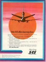 1977 Original Advertising' Vintage American SAS Scandinavia Airlines System East