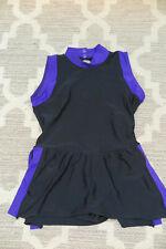 Capezio Girls Black/Purple Leotard Skating Dress Ballet Gymnastics Size L
