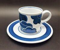 Villeroy & Boch Blue Cloud: Kaffeetasse / Tasse mit Unterteller