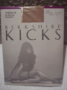 Berkshire KICKS Thigh-Hi Stockings No Bind Top Sandalfoot C-D Nude Made in USA