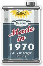 Aged Metal Tin Oil Can MADE IN 1970 Retro Novelty Ratlook Motorcycle car sticker