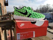 Nike Roshe NM Polka Dot  810857-300 Green Black White Run Men's Size 8.5