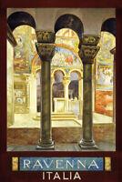 Ravenna Italia Targa di Latta Poster Metallo Scudo ad Arco 20 x 30 CM