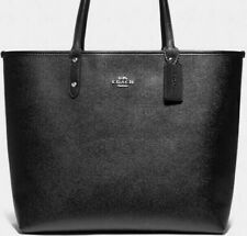 NWT Coach F78282 Reversible City Tote Signature Black / Brown Metallic $378 MSRP