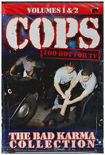 COPS TOO HOT FOR TV VOL 1 AND 2 BAD KARMA COLLECTION (DVD, 2003, 2-Disc Set) NEW