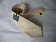 Ede Ravenscroft Brand New yellow shantung silk tie RRP £59