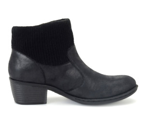 NEW BORN B.O.C BENDELL BLACK ANKLE BOOTS WOMENS 9 Z26704 ZIP SIDE BOOTIES