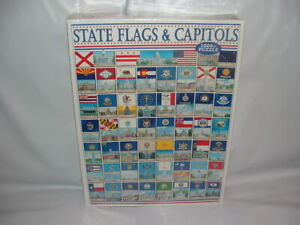 BRAND NEW 1000 PIECE WHITE MOUNTAIN STATE FLAGS & CAPITOLS PUZZLE