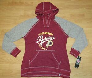 Washington Redskins Fan Fashion Rough Cut V-neck Hoodie Jacket Women's Large