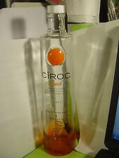 1 CIROC VODKA PEACH EMPTY  BOTTLE  1 LITER  FOR COLLECTIBLE
