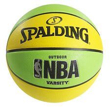 Spalding Nba Varsity Neon Outdoor Basketball - Green/Yellow - Official Size 7.