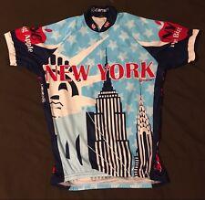 Canari New York City Men's Cycling Bike Jersey Sz small Statue of Liberty EUC
