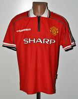 MANCHESTER UNITED 1998/1999/2000 TREBLE HOME FOOTBALL SHIRT UMBRO SIZE M ADULT