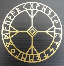 Protezione Algiz rune CERCHIO divinità MITI MAGIC Adesivi / Auto / Finestra / Decalcomania 5372gold