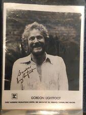 Gordon Lightfoot Signed Photo