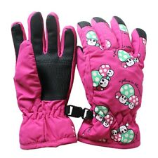 Paar Anti Rutsch 2-4 Jahre Kinder Ski Skaten Handschuhe(Rosa Rot) C9G9 V5P4