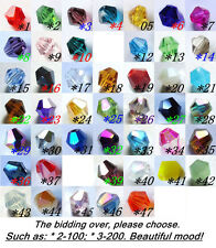 Free Shipping Swarovski Jewelry 1000pcs Crystal #5301 4mm Bicone Beads