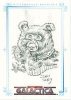 The Complete Battlestar Galactica Dan Day Sketch a Fex Card - Daggett