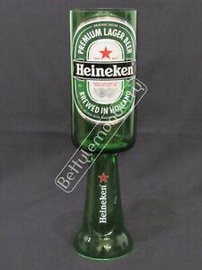HEINEKEN LAGER / BEER STEMMED CHALICE GLASS GOBLET - 100% RECYCLED! - GREAT GIFT