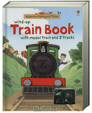 Wind Up Train Book with model train and 3 tracks Heather Amery (board book) NEW