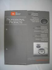 JBL UREI 1970's LOUDSPEAKER AMPLIFIER BROCHURE FOLD OUT 84 x 22 CM