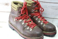 Stefan Austria 39 6 Brown Red Laced Hiking Men's Boots