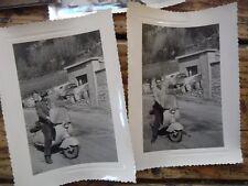 LOT 7 PHOTOS ORIGINALE ARGENTIQUE  MOTOS SCOOTER  1930-1950