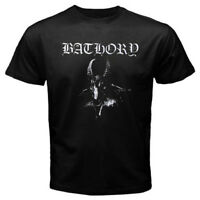 Bathory Logo Men's Black T-Shirt Size S M L XL 2XL 3XL
