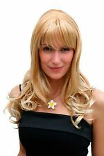 Perücke,Perrücke,Wig,Parrucca,Blond-Mix,gewellt,gerader Pony,55 cm,3001-27T88