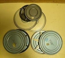 Lot of Empty Vintage Metal Film Reels & Cases/Cans