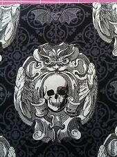 Michael Miller Gothic Skulls 100%cotton fabric,fat quarter,freep&p,