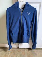 Vintage American Eagles 1977 Fleece Women's Medium  Zippered Hoodie Blue