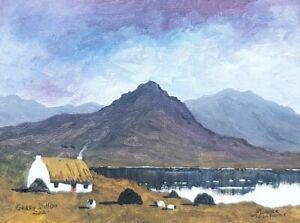 Original Irish Art.Acrylic Painting,Mourne Mountains,Irish Painting,Gerry Dillon