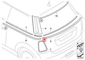 Genuine MINI COOPER R56 INSERT TRIM STRIP REAR COLUMN C COVER BRACKET LEFT