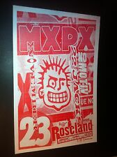 MXPX Magnified Plaid No Motiv Original Portland Punk Flyer Concert Tour Poster
