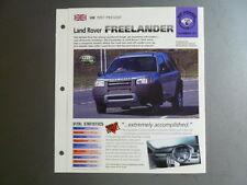 """1997 > Land Rover Freelander IMP """"Hot Cars"""" Spec Sheet, Folder #6-21 Awesome"""