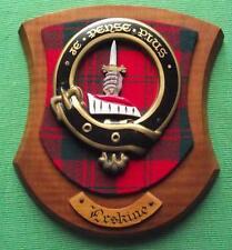 Vintage Escocés Clan Erskine Tartan Roble Placa Emblema Escudo