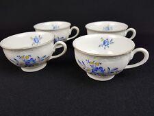 KPM Rubens Blau ° 4 Kaffee - Tee Tassen Weiß Goldrand 6 x 9,5 cm