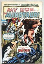 Iron Man #24-1970 stripped Minotaur Madame Masque