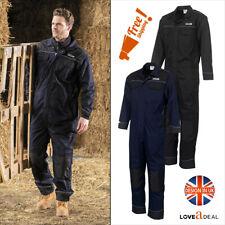 JCB Coveralls Mens Boilersuit Heavy Duty Overall Mechanics Workwear Navy & Black