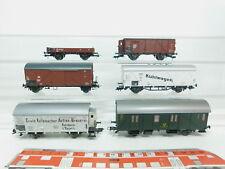 bk266-1 #6x ROCO H0 / DC Vagón de mercancía etc. NEM : DR+ DRG + DB + post