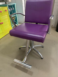 Purple Styling Chairs With 5 Star Base