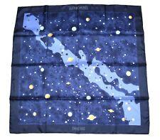 Hermes Scarf La Voie Lactee Silk 90 cm Black Navy blue Milky Way Astronomy RA28