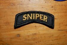 ARMY PATCH, UNNOFICIAL SNIPER TAB, PATCH, BLACK BORDER