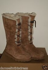UGG Womens CLASSIC Tall NOLLA UPTOWN Style Boot 7US CHESTNUT Suede NWOB