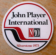 1973 John Player International F1 Grand Prix Race Silverstone Sticker / Decal