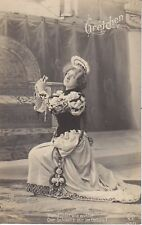 RPPC Gretchen 1905 theater costume pain in heart 12808