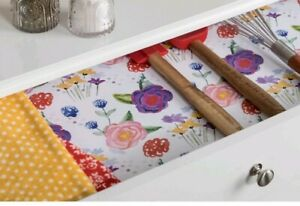 Pioneer Woman Drawer Liner Craft Floral Adhesive Laminate Roll 20 in. x 12 ft.